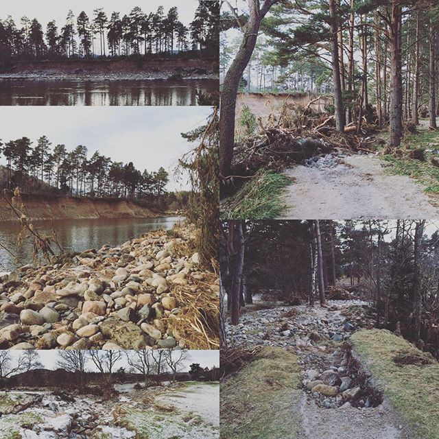 Just some of the damage caused by Storm Frank over New Year.