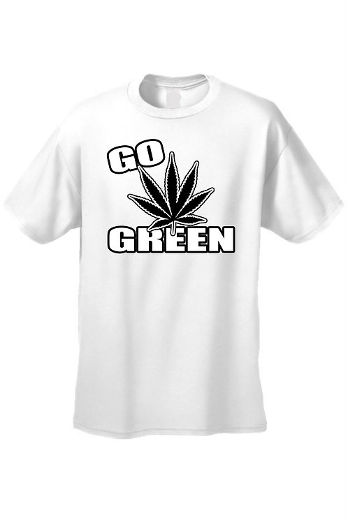 Men's/Unisex Go Green Save the Planet Short Sleeve T-Shirt