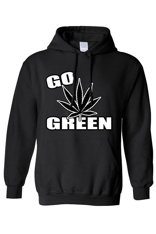 Unisex Pullover Hoodie Go Green Flower Pride