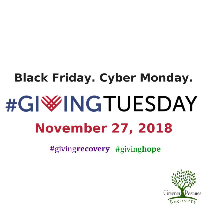 #givingtuesday #giving recovery logo