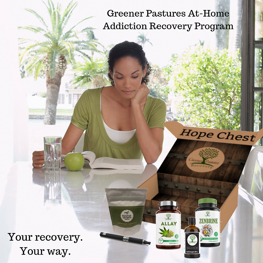 recovery subscription box service greener pastures hope chest
