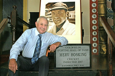 Merv Hosking Photo Inducted Goldfields S