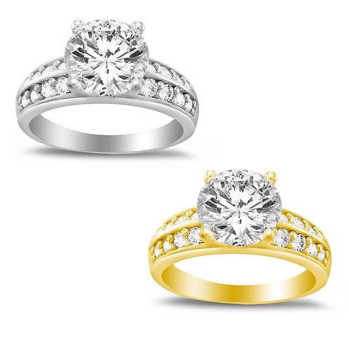 14k Yellow or White Gold 1 1/7ct TGW Round-cut Diamonette Engagement Ring