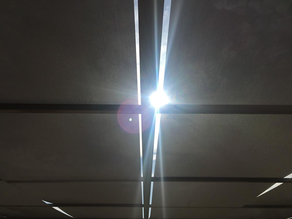 Sun Screen arkasından güneş...
