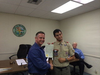 Newest Eagle Scout Jonathon Nystrom