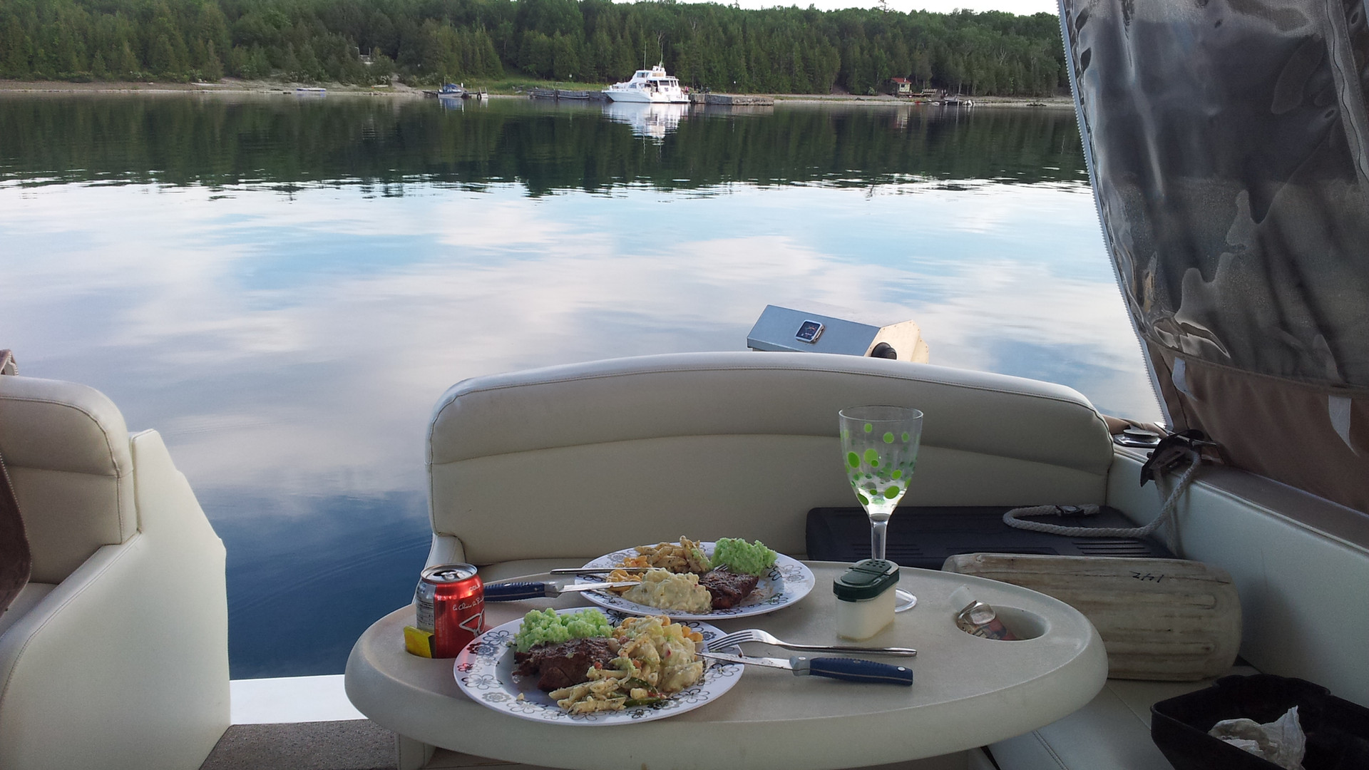 relaxing on the water