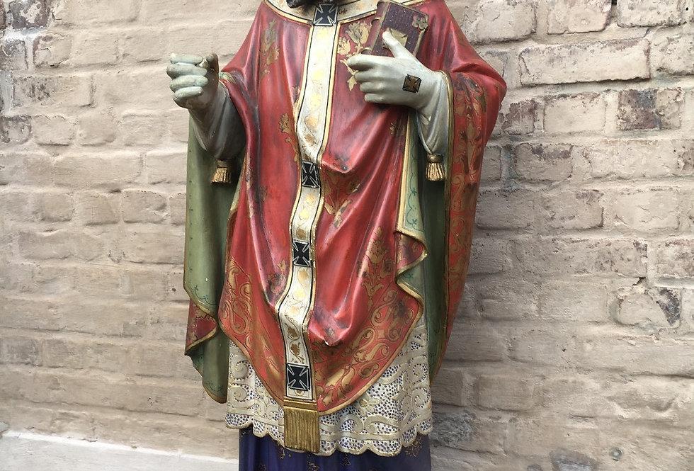 Stunning & Rare Plaster Statue of Saint Otto of Bamberg / Otto von Bamberg