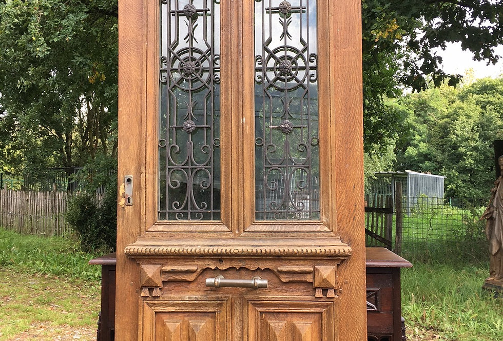 Antique wood & Cast iron door