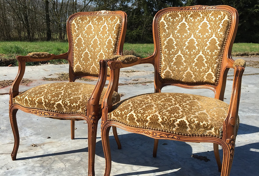 Pair of Louis xv Armchairs