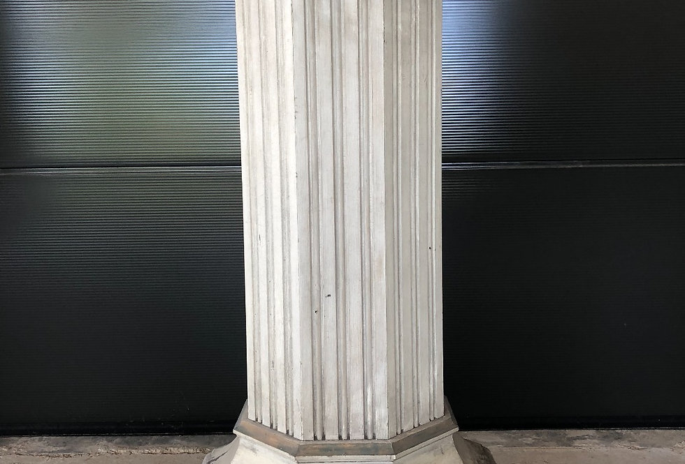 Large Old Paint Church Column/Stand