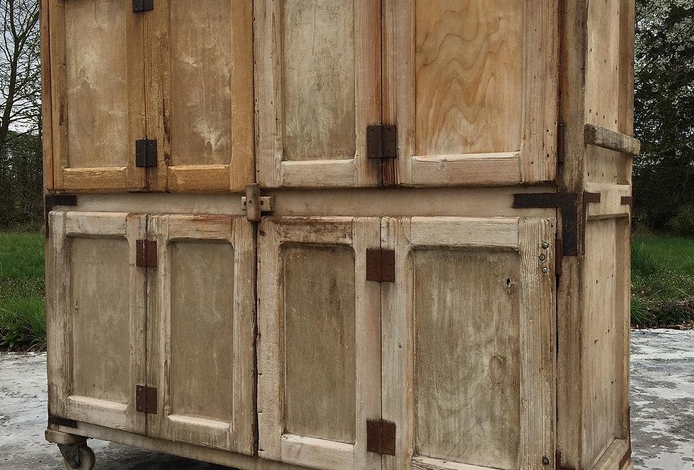 Vintage Primitive Bakery/Butcher's Shop Cabinet on Wheels