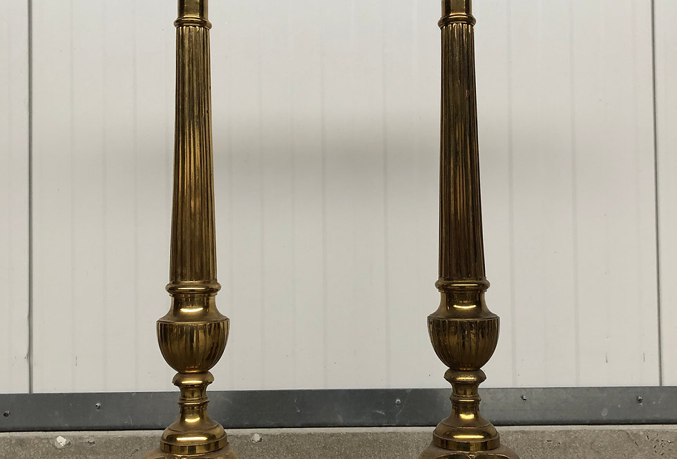 Large Bronze Church Candlesticks 85 cm high