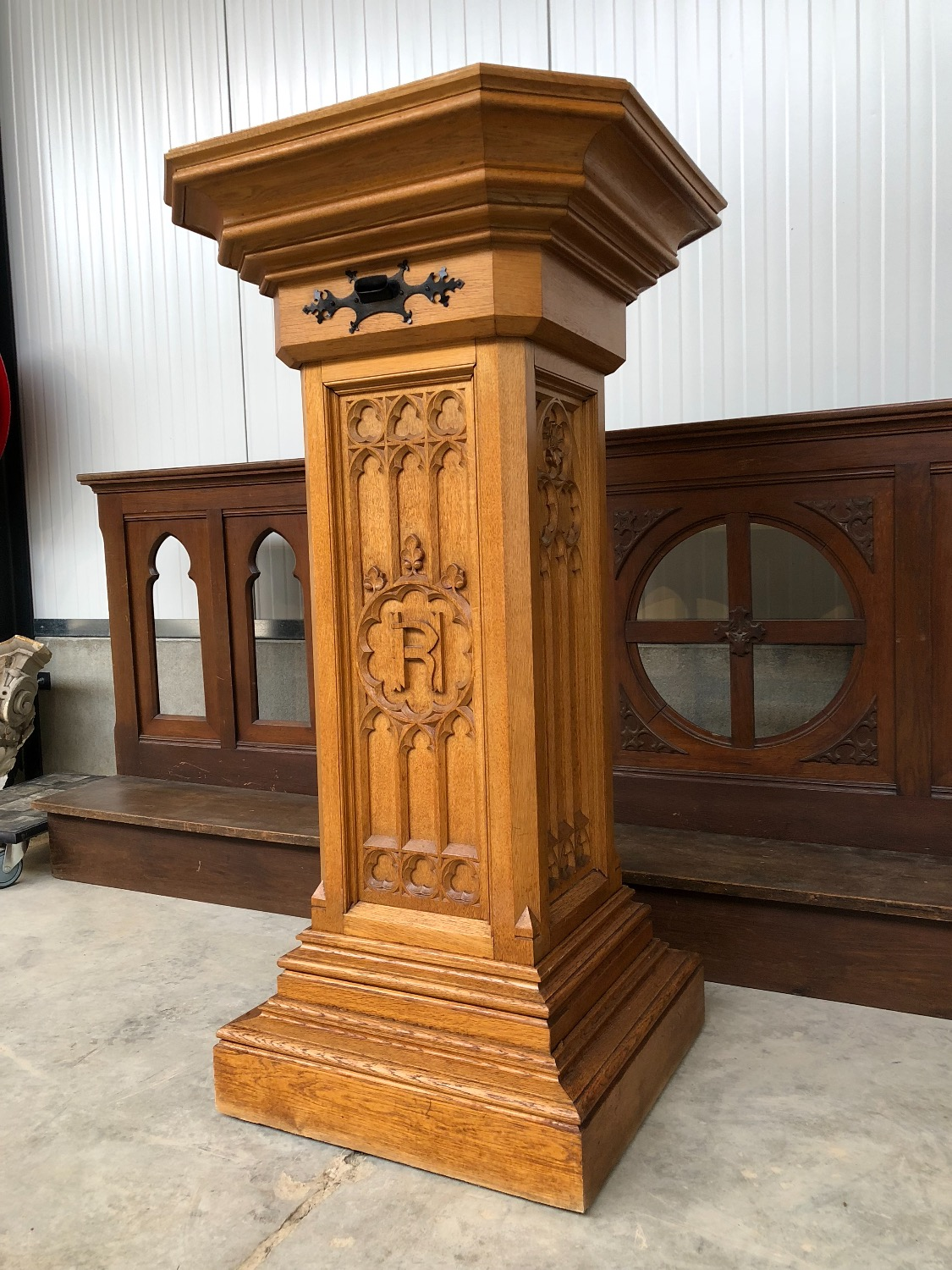 gothic church stand in wood