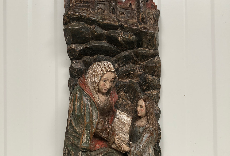 Saint Anne Retable fragment in oak circa 1500