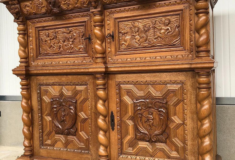 Beautiful Dutch Renaissance Cabinet circa 1900