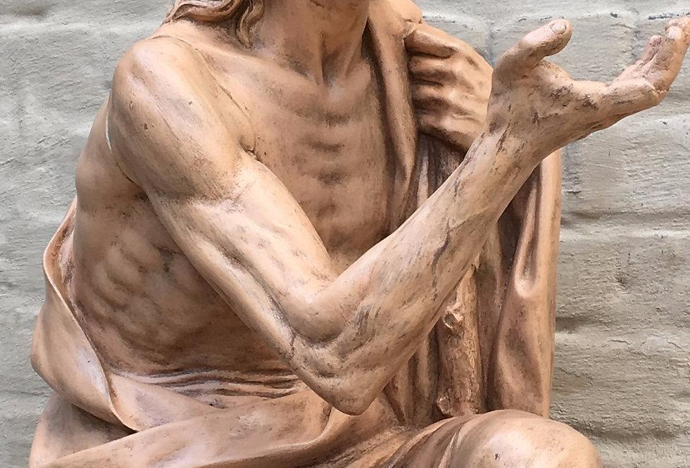 Stunning Terracotta Church Statue of Saint Jerome