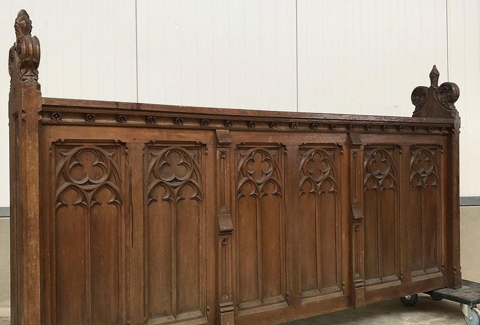 Antique Neo Gothic Church Piece in oak