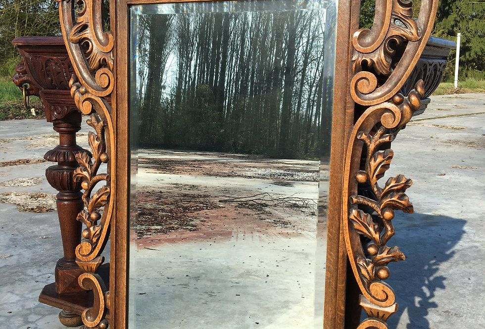 Carved Mirror in wood