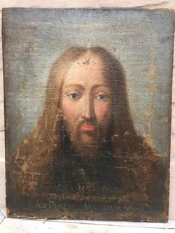 Antique Salvator mundi painting
