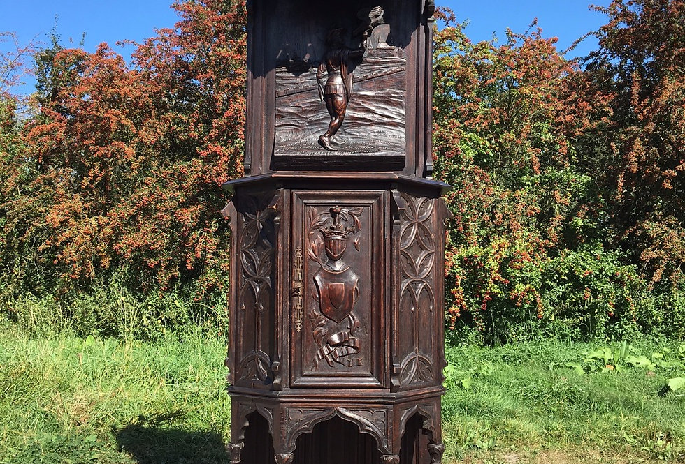 Nice Quality Gothic Cabinet in oak