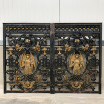 Cast iron Church doors with angels