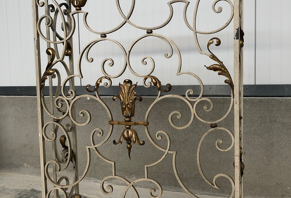 Decorative Cast Iron Heating Fence circa 1930