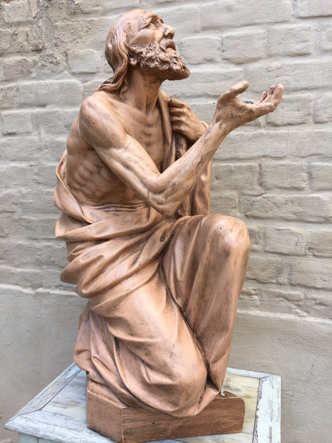 Terracotta Statue Saint Jerome
