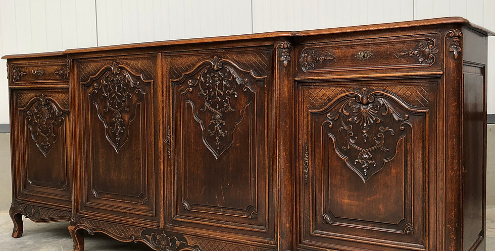 Liège/Louis XV Server in oak circa 1900