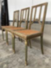 Set of 3 Louis XVI chairs