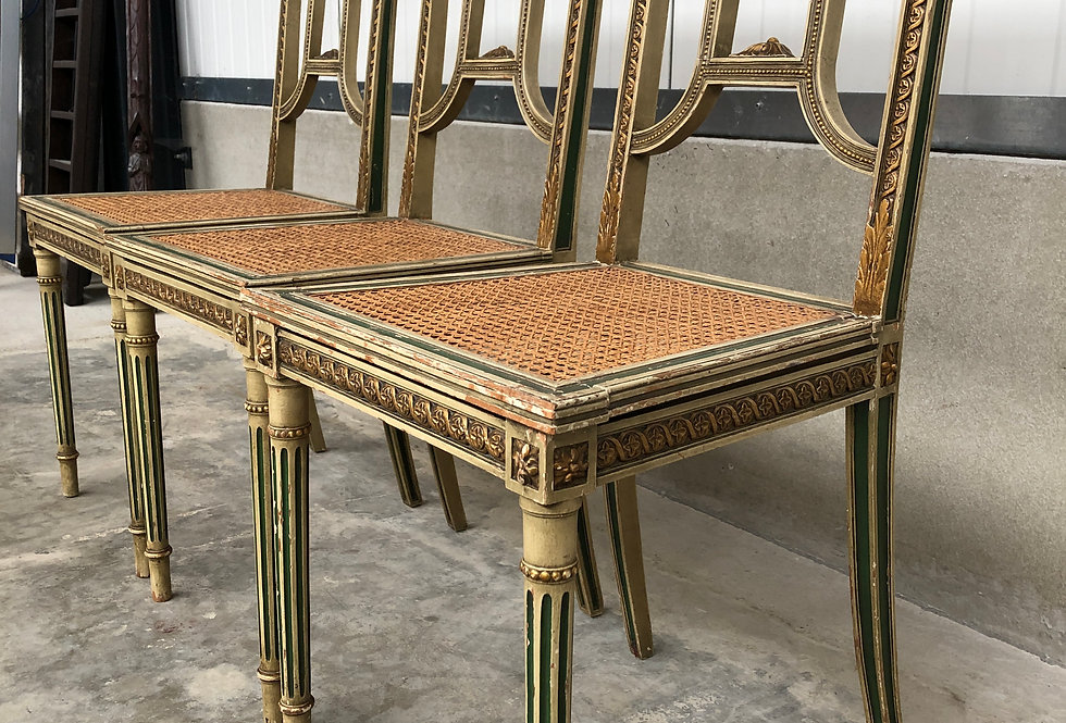 3 Louis XVI Chairs
