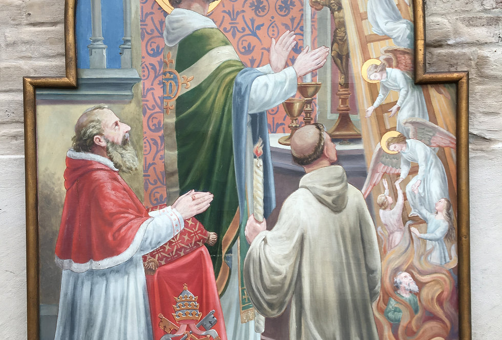 The Holy Sacrifice of the Mass Church Painting