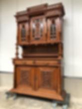 Walnut Henri II Cabinet