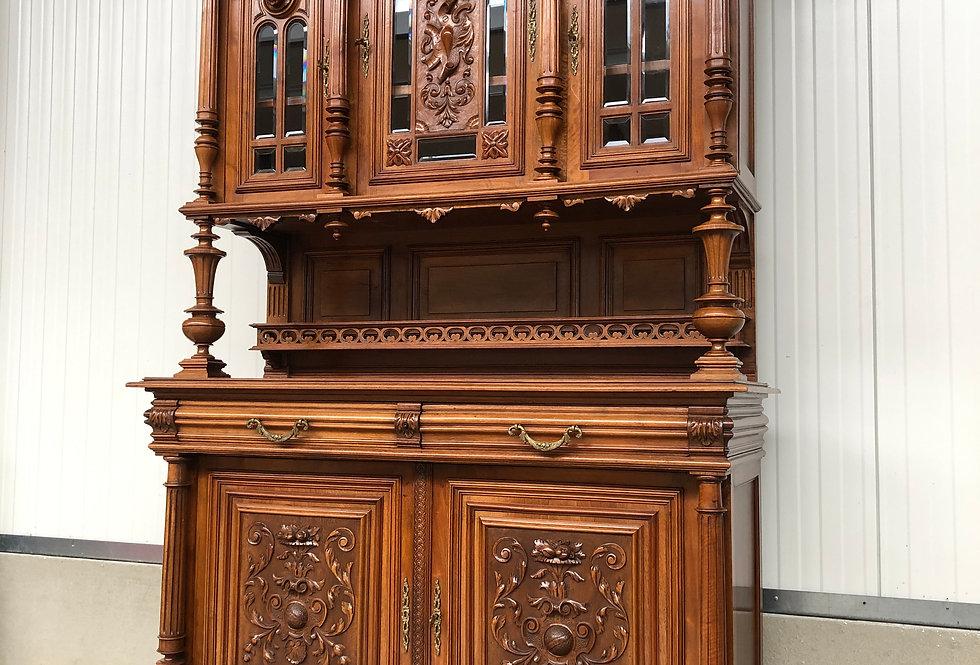 19th C. Walnut Henri II Cabinet
