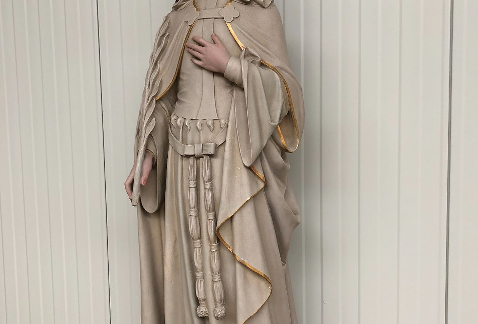 Antique Church Statue in plaster circa 1900