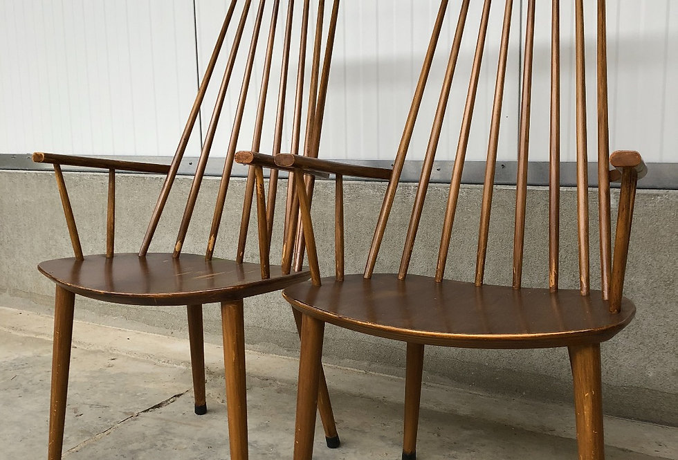 "Vintage Design ""Folke Palsson"" Armchairs for FDB Mobler Denmark"