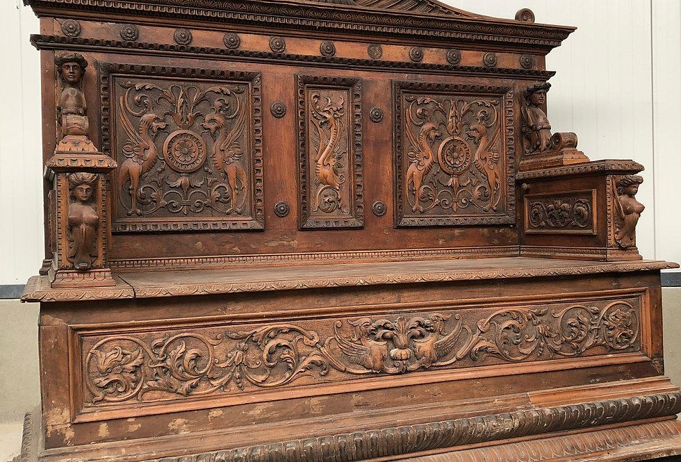 Impressive Italian Renaissance Bench
