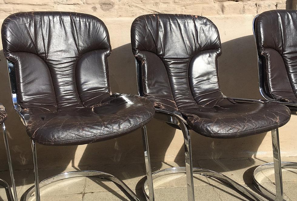 5 Vintage 70's Cidue Design Chairs