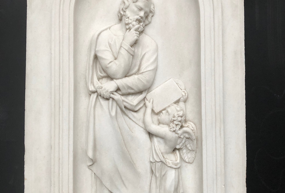 19th C. Saint Matthew the evangelist in Marble