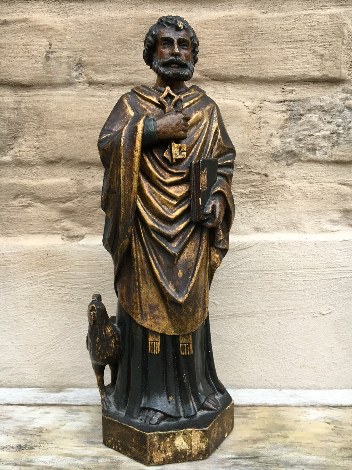 Saint Peter Statue in Wood