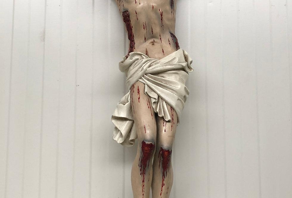 Exceptional Corpus Christi in wood + Original Transport Box