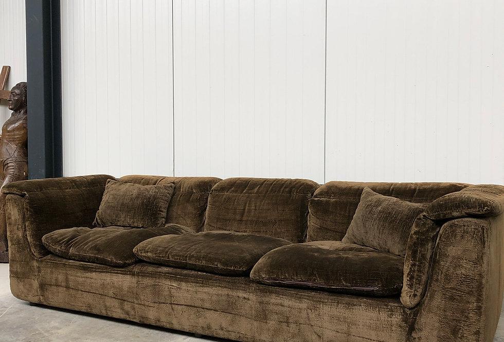 Vintage 1970's Velvet Sofa