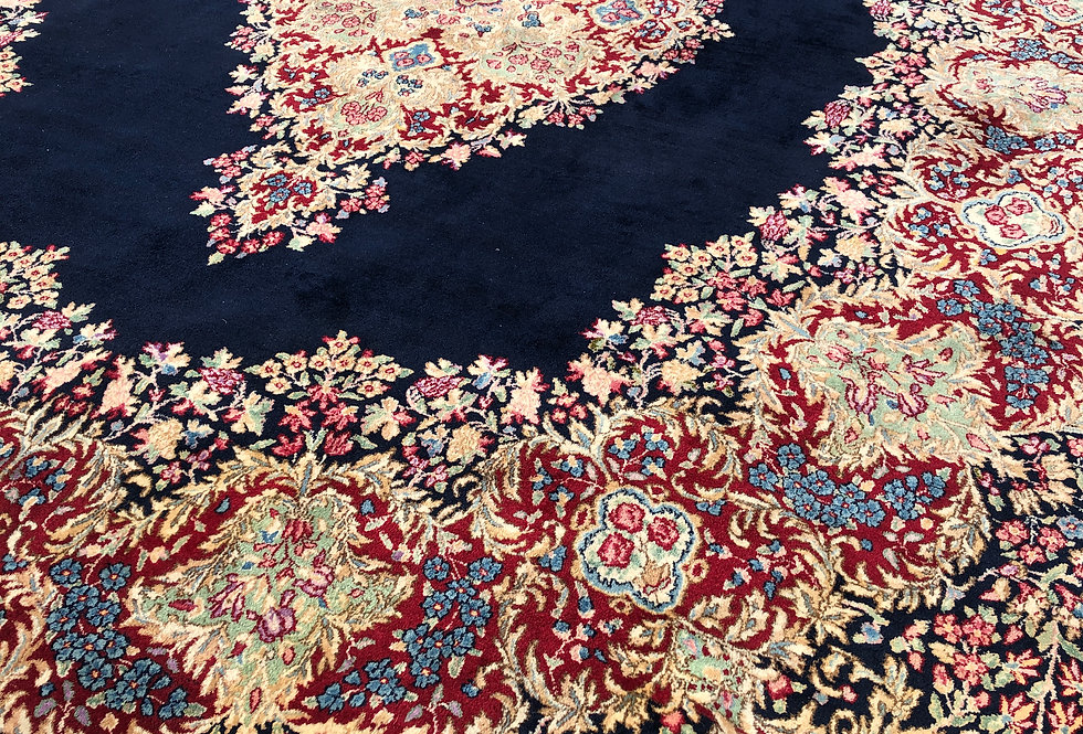 Fine Large Persian Kerman Lavar Rug