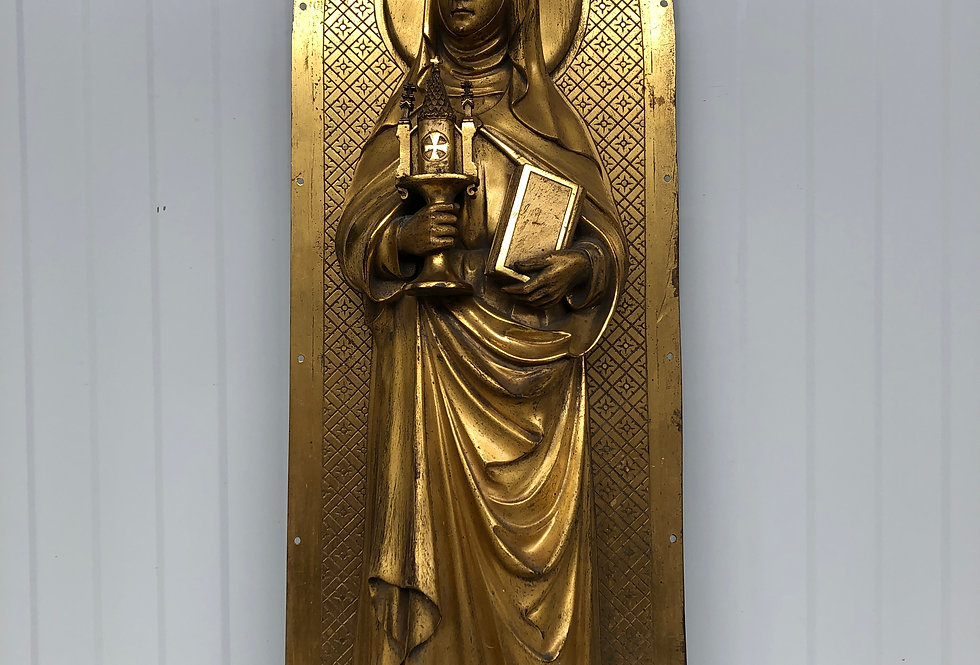 Stunning Saint Clare of Assisi in Bronze