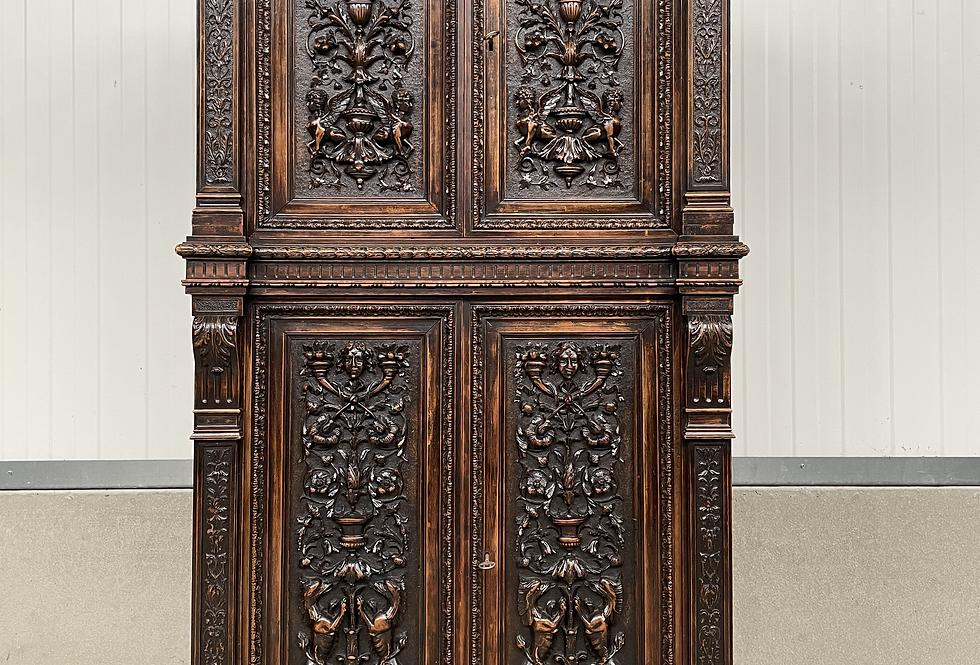 Carved Walnut Cabinet