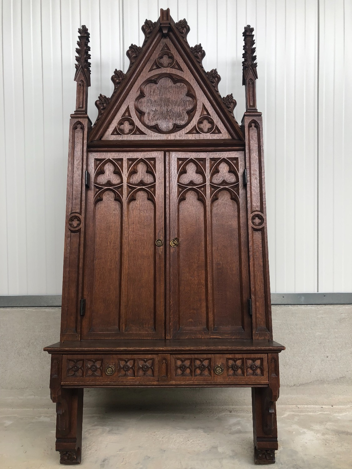 Large Gothic Wall Cabinet