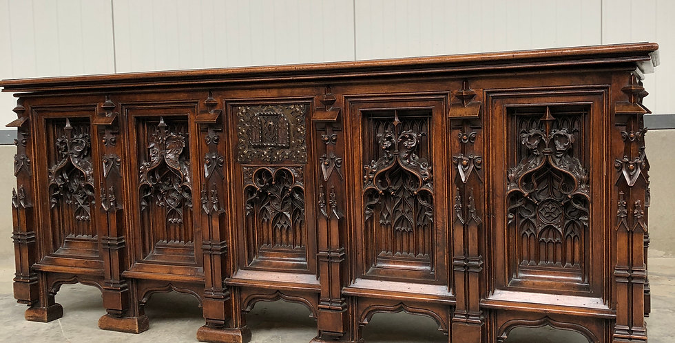 A Exceptional X-Large French Gothic Revival Trunk