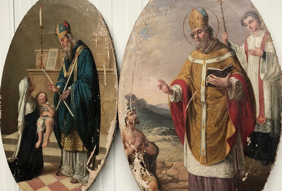Beautiful pair of Religious paintings