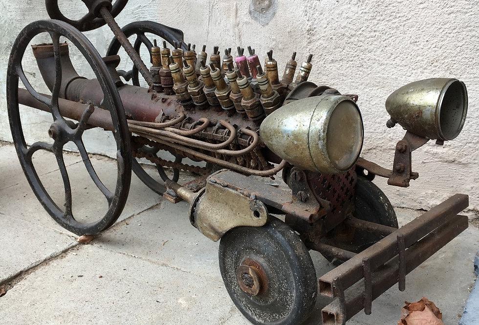 A Vintage Steampunk / Metal Art Car