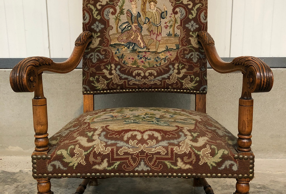 Neo Renaissance Tapestry Armchair