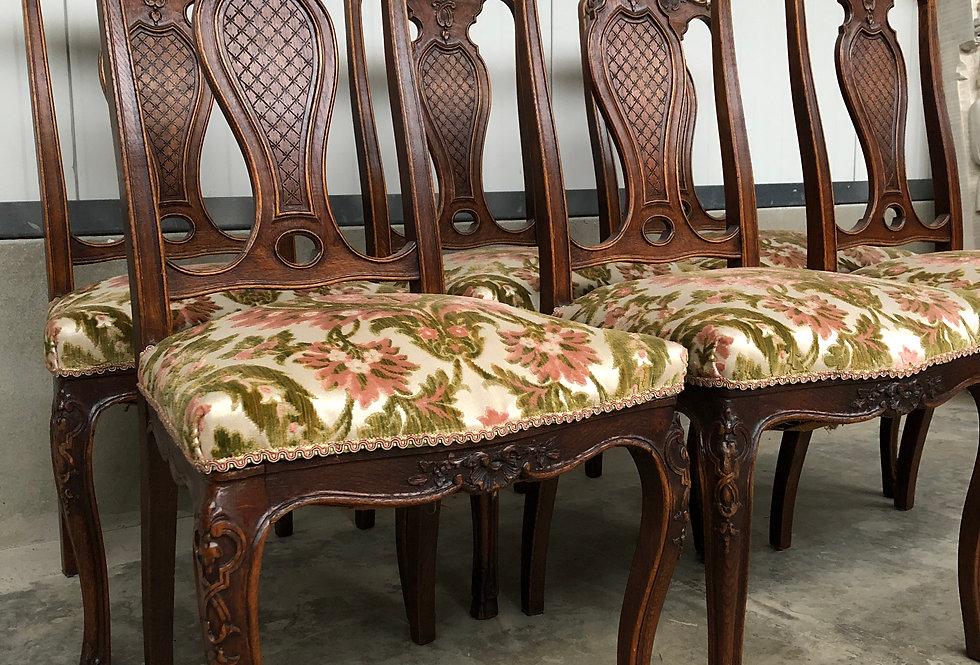 6 nice  Liège Chairs in oak
